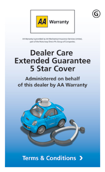 AA Warranty 5 Star - Dealer Care Extended Guarantee